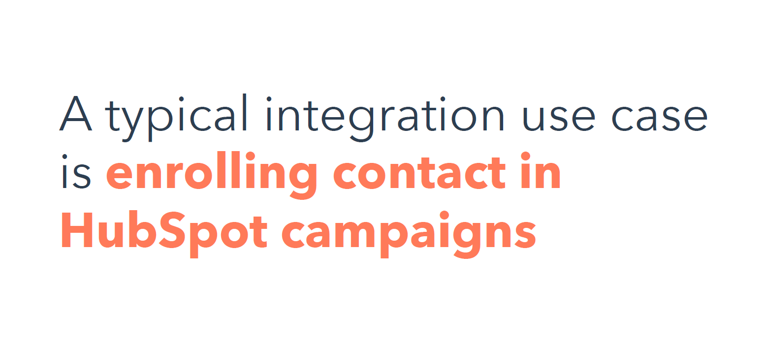 Typical Integration Use case
